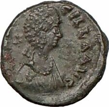 AELIA FLACILLA  Saint 383AD Authentic Ancient RomanCoin Victory CHI-RHO i7896
