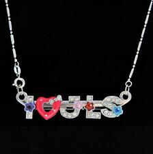 I Love JLS Metal Necklace Chain with Free Gift Bag for Party bag Birthday gift