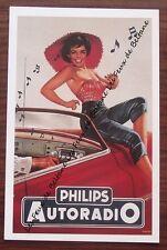 Carte format CPSM,publicité Philips autoradio,1960