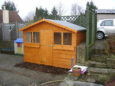 10FT X 8FT GARDEN SHED/SUMMER HOUSE WITH +1FT OVERHANG HIGH QUALITY TIMBER