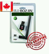 🌟300 Mbps USB Wireless Network Antenna Adapter for PC Laptop TV Box 🇨🇦