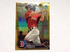 Sam Travis 2016 Bowman Chrome Gold Refractor Red Sox #08/50