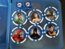 Heroclix DC Justice League markers figure poker chips and dice batman superman