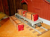 O Scale,  O Gauge  Flat Car Load Real Cherry Lumber Handmade