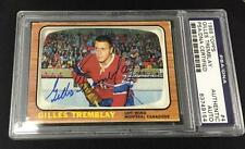 GILLES TREMBLAY SIGNED 1966 TOPPS MONTREAL CANADIENS CARD #4 PSA/DNA 83749154