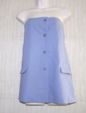 Jil Sander Blue Purple Strapless  Pockets Vents Wool Lined Tunic Top Size:40
