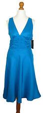 Knee Length Silk Sleeveless Dresses for Women
