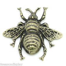 "5 PCs Embellishments Findings Cabochon Bee Bronze Tone 4cmx3.7cm(1 5/8""x1 4/8"")"