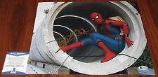 Tom Holland Signed 11x14 Marvel Peter Parker Spider-Man: Homecoming BAS Beckett