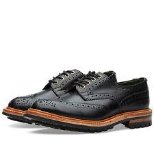 TRICKER'S COMMANDO SOLE BOURTON BROGUE Black Leather Size 11-5