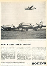 1947 Boeing C-97 Army Aircraft and B-50 Vintage Advertisement Print Ad J517