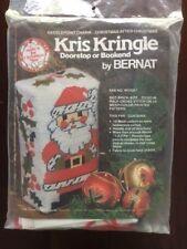 Vintage 1970s Bernat Needlepoint Kris Kringle Doorstop #W03051 - NIP