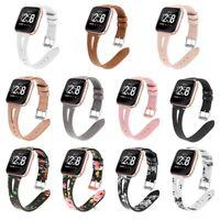 For Fitbit Versa Fashion Slim Genuine Leather Watch Band Strap Wrist Bracelet