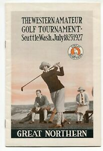 1927 Great Northern Railroad Seattle WA Golf Tournament Program Woman Golfer WOW