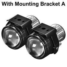 "2X 2.5"" Fog Light Lamp Projector Lens Fit H11 H9 H8 Bi-Xenon LED HID Hi-Lo Beam"