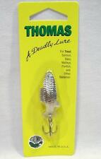 Thomas Fighting Fish 1/4 oz Nickel Spinning Fishing Lure Spinner Spoons