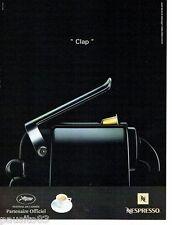 PUBLICITE ADVERTISING 116  2008  Nespresso café  cafetière du Festival de Cannes