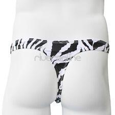 Mens Black Striped Low Rise Briefs Bikini Bugle Pouch T-Back Thongs Underwear