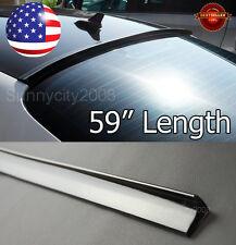 "59""  Semi Gloss Black Rear Diffuser Window Roof Trunk Spoiler Wing Lip For Honda"