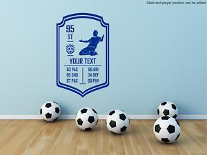 Custom Football Soccer Player Rating Skill Card. Wall Decal Sticker art sticker.