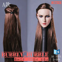 1/6 Female Beauty Head Sculpt Braided Hair For Hot Toys Phicen SHIP FROM USA