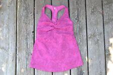 LULULEMON ~ Purple / Dark Pink Racerback Floral V Neck Tank Top ~ Size 4