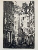 Louis Orr gravure eau forte etching La Vigneronne Vigneron Hôtel Belle Gabrielle