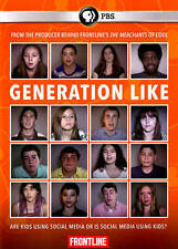 GENERATION LIKE PBS Frontline Kids and Social Media Documentary FREE SHIPPING!
