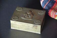 Old Chinese Brass Buddha Box …beautiful accent piece