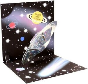 Outer Space  -  Light-up 3D Pop-up Card by Up With Paper