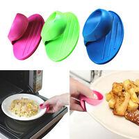 Kitchen Dishes Silicone Oven Heat Insulated Finger Glove Mitt Protector Non slip