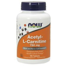 Now Foods Acetyl-L-Carnitine 750mg - 90 Vegetarian Tablets