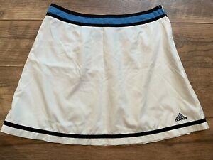 ADIDAS White Blue Black Lightweight Gym Athletic Tennis Training Skirt womens 12