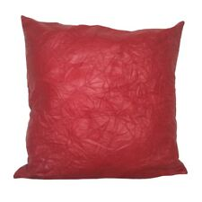"Cracked Faux Leather Red 18x18"" Home Decorative/Throw Pillow Case/Cushion Cover"