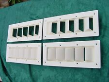 """BOAT VENT LOUVER 14"""" BILGE EXHAUST SEA RAY! 4 pak special GENUINE NEW OFF WHITE"""