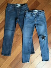 Old Navy Jeans Rock Star w/ Black Sequin Star & Skinny Jeans EUC 8 Lot 2 pair
