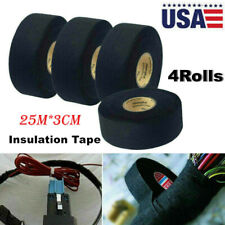 New listing 4Rolls Car Cloth Tape Wire Electrical Wiring Harness Insulation Tape 25M*3Cm Hot