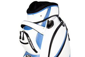 NEW Motor Power and Caddy 14 Way Divider Cart / Trolley Golf Bag  - White/Blue