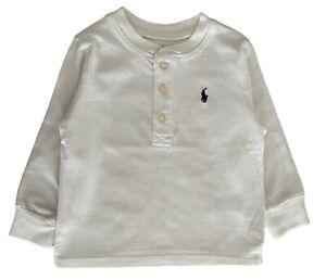 Baby Boys Girls Ex Ralph Lauren henley  t shirt top long short 3 6 9 12 18 24 m