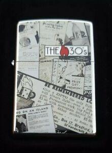 ZIPPO, THE 30'S, NEWS ARTICLES LIGHTER ((VERY RARE))