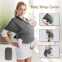 Baby Wrap Carrier Sling Newborn Infant Adjustable Breastfeeding Pouch Backpack