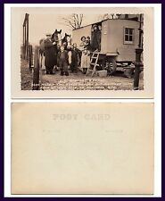 CANADA WATROUS SASKATCHEWAN TO MONTREAL HORSE DRAWN WAGON AND FAMILY REAL PHOTO