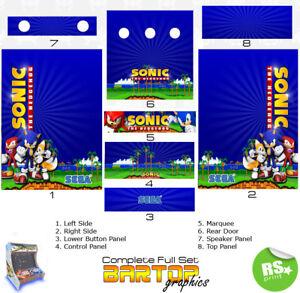 Sonic Full/Half Sets Arcade Artwork Arcade Graphics Stickers all sizes