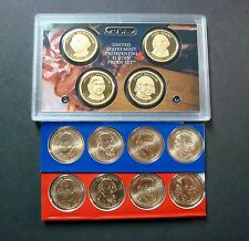 2007-S-P-D ALL TWELVE PROOF AND UNCIRCULATED PRESIDENT DOLLARS IN MINT PACKAGING