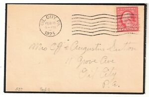 US 1923 Mourning Stationery Cover