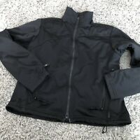 COLUMBIA TITANIUM BLACK FLEECE ZIPPER JACKET COAT WOMEN'S SIZE S With Pockets.