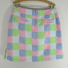VINEYARD VINES ― M Medium ― Waistband Stripe Pull-On Navy //White Skirt NWT #622A