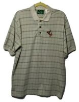 Disney Golf Collection Polo Shirt Tigger Multicolor Plaid Short Sleeve Large L