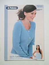 PBN03553 PARTY XMAS GIRLS COTTON DK LACY JACKET KNITTING PATTERN 16//24in