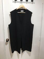 MELA PURDIE Black Long Sleeveless Vest / Jacket Size 20 *In Great Condition*
